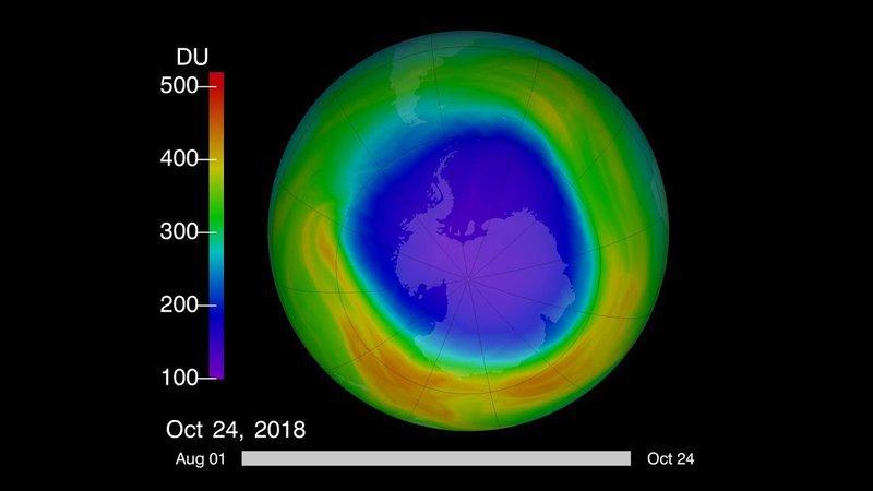<p>Ozone hole 2018</p>