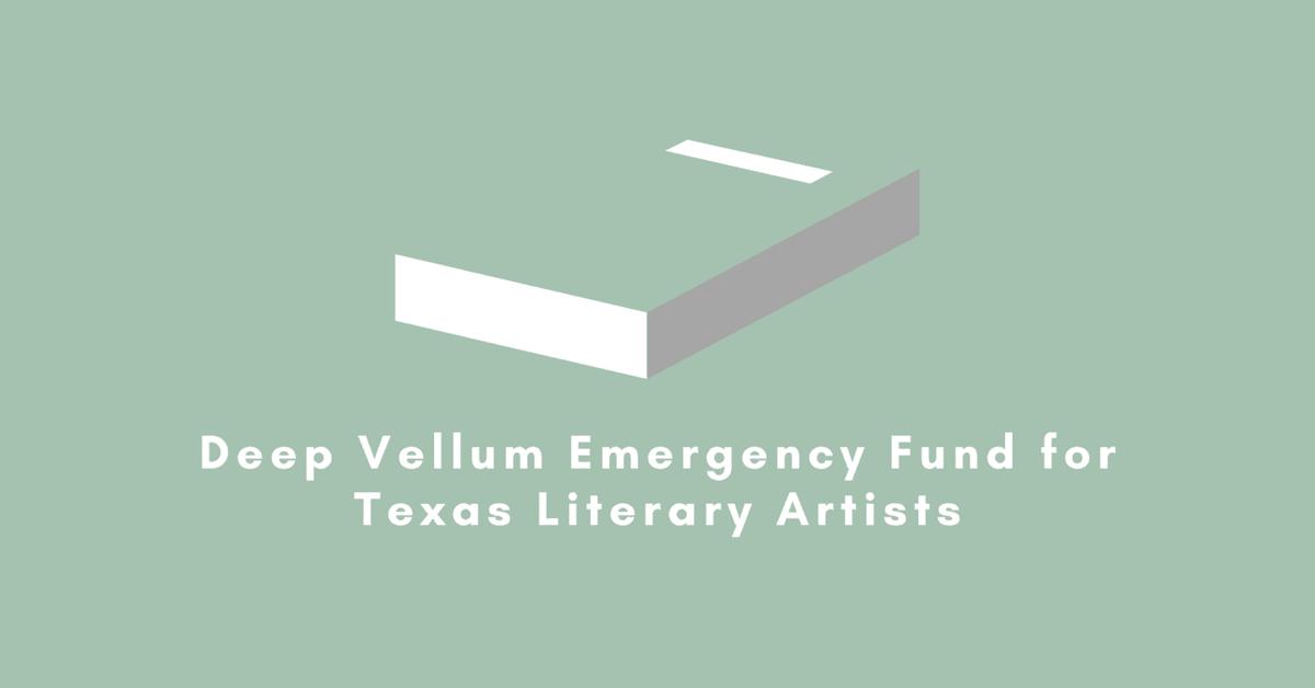 "<p>Dallas-based nonprofit publisher Deep Vellum is launching the <a href=""http://deepvellum.org/2020/05/13/dallas-publisher-launches-deep-vellum-emergency-fund-for-texas-literary-artists/"">Deep Vellum Emergency Fund for Texas Literary Artists</a>.</p>"