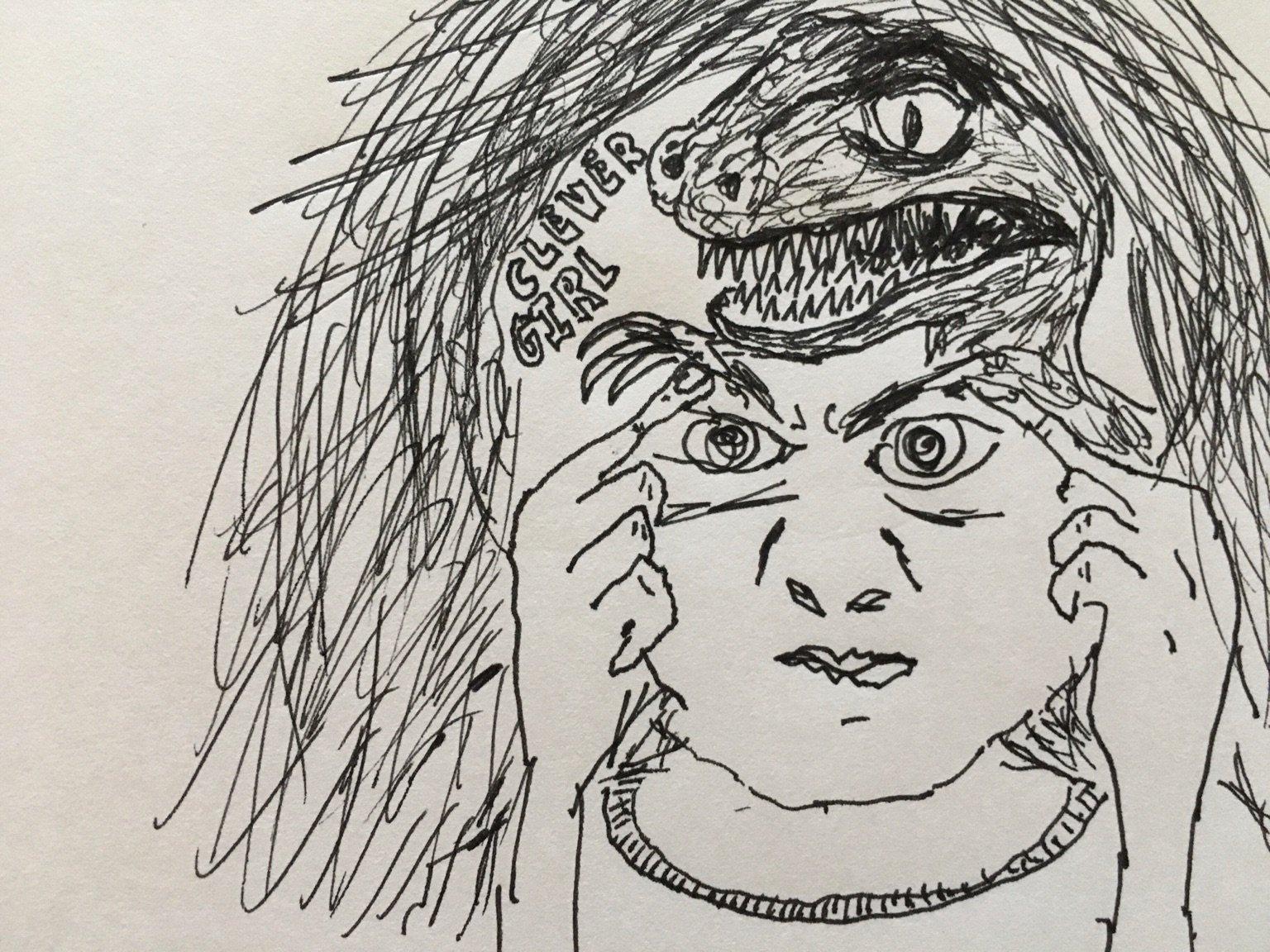 <p>Whitney Phillips, 'Lizard Girl'</p>
