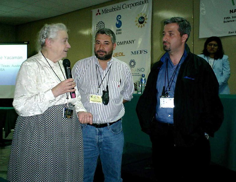 Millie with my brother and I at the NT04 Conference with Millie. Photo courtesy of David Tomanek