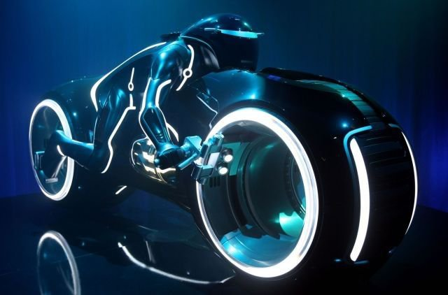 <p>Lightcycle from Tron</p>