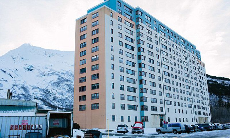 <p>Begich Towers, Whittier, Alaska</p>