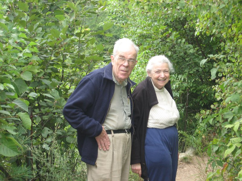 Millie and Gene take a walk around Walden Pond together. Photo credit: Shoshi Cooper