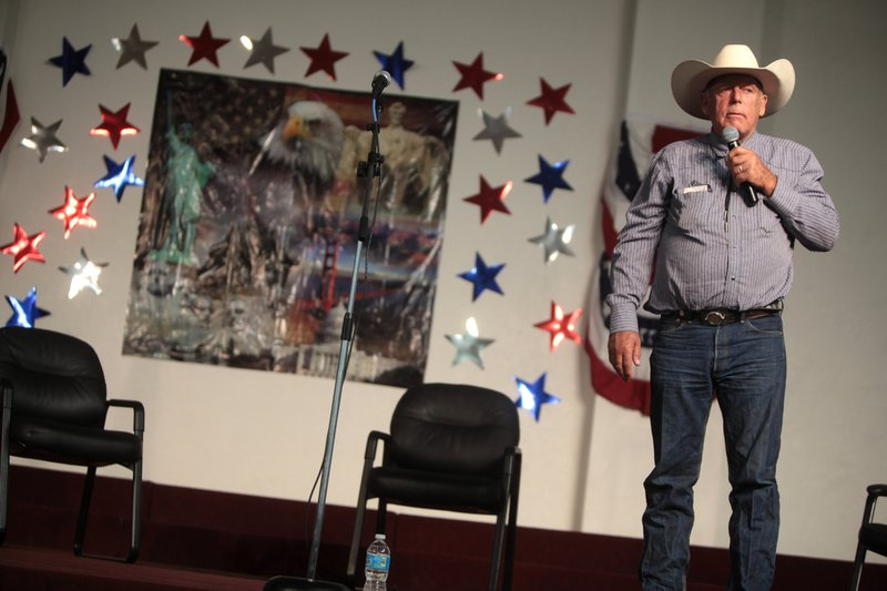 Ammon Bundy was the spokesperson for the armed militants who occupied the Malheur National Wildlife Refuge in Eastern Oregon for 41 days in 2016. For photos: http://boisestatepublicradio.org/post/41-days-documentary. Source: CC by DonkeyHotey