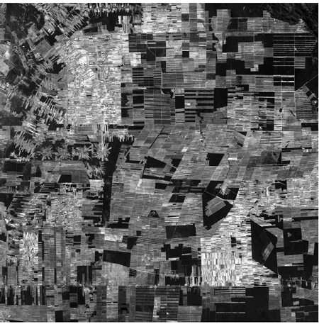 <p><strong>Fig. 4.12</strong><br>Deforestation in the Amazon Basin, Bolivia, from logging, ranching, and settlement. Remaining forest shows as dark patches. Satellite image, January 8, 2000, from USGS EROS Data Center Satellite Systems Branch, &lt;http://209.15.138.224/bolivia_maps/s_deforestation_bolivia.htm&gt;.</p><p></p>