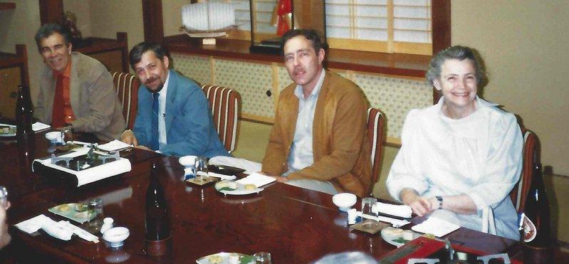 Millie Dresselhaus, Jack Fischer, D. Guerard, Gene Dresselhaus at the VIP Dinner at the Tsukuba EXPO in Japan.