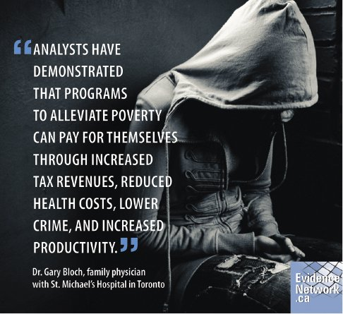 <p>Figure 10.2 A poster in Toronto, Canada, arguing poverty is more expensive than its elimination. Courtesy Folio Designs for EvidenceNetwork.ca.</p>