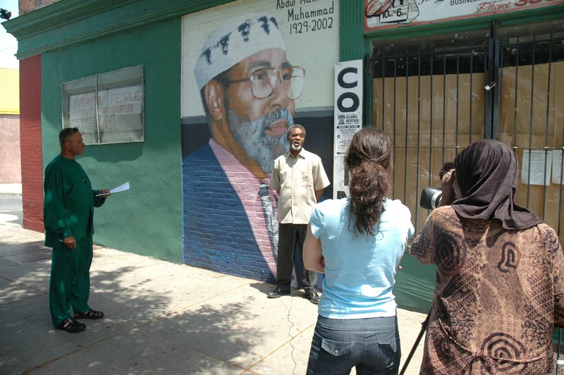 <p>Filming for Precious Places project in 2007, New Africa Center, a project at Scribe Video Center.</p>