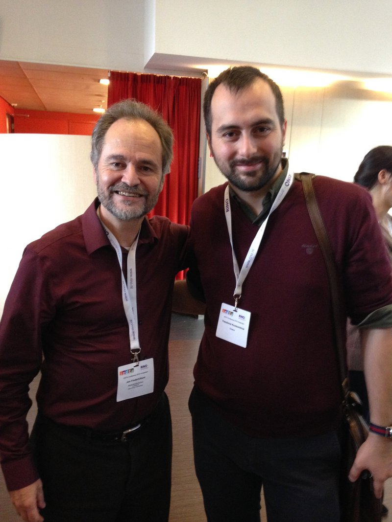 <p>Jon Frederickson and</p><p>Theodoros Koutsomitros</p><p>at the IEDTA conference</p>