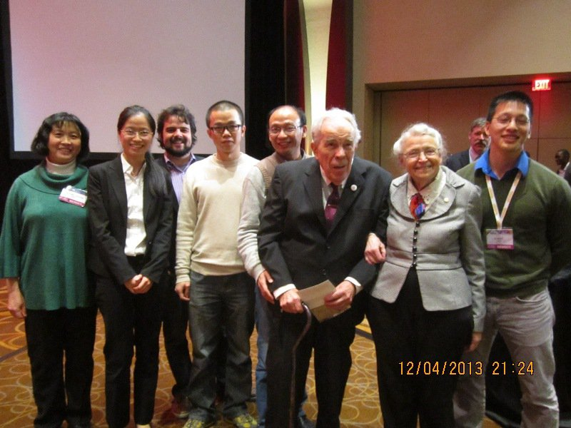 Our group members were with Millie for her MRS Von Hippel Award in 2013.