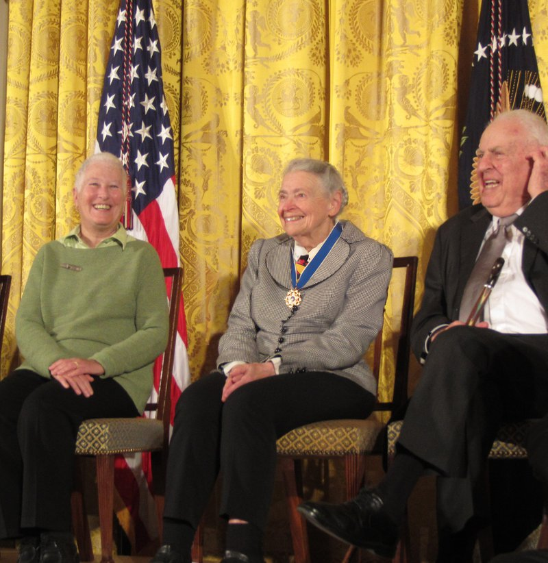 Millie at the Medal of Freedom Ceremony, 2014.  Photo credit: Shoshi Cooper