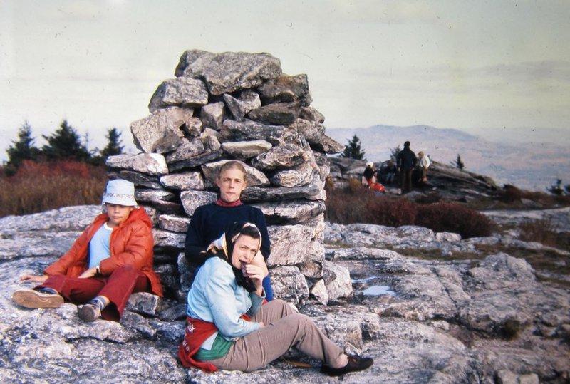 Millie, Marianne, and Paul climb Mount Monadnock. Photo credit: Gene Dresselhaus