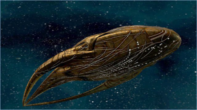 "<p>Figure 5. Moya, a Leviathan transport vessel-- a living sentient<em> bio-mechanoid</em> space ship, from the Farscape universe.</p><p>Source: <a href=""http://farscape.wikia.com/wiki/Moya"">http://farscape.wikia.com/wiki/Moya</a><span></span><br></p><p>Credit: Unknown</p>"
