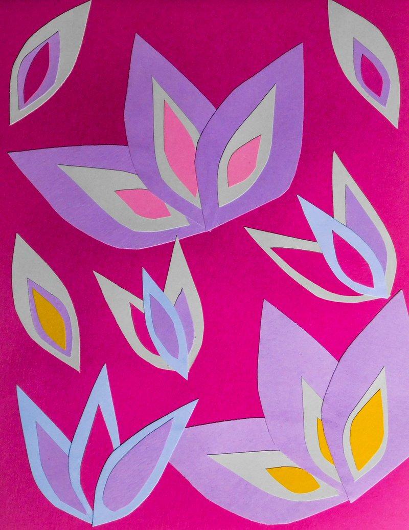 """<p><em>""""Blooms,"""" cut paper artwork, 2020, Milicent Fambrough</em></p>"""