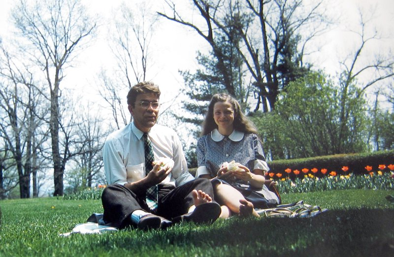 Millie and Gene have a picnic together at Cornell. Photo courtesy of Dresselhaus Family