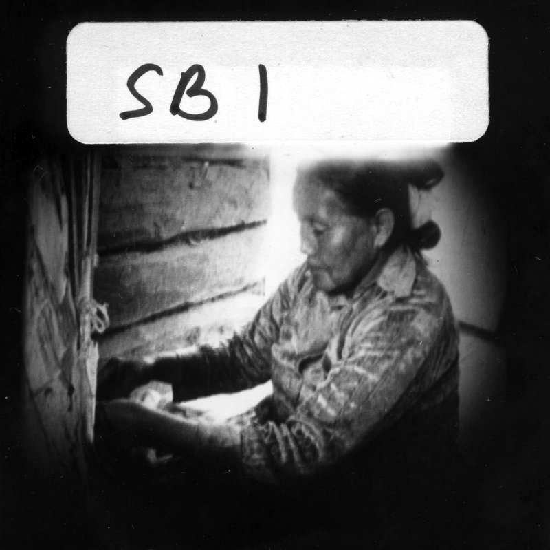 "<p>Alta Kahn at her loom. Screen shot from ""A Navajo Weaver"" (1966) filmed by her daughter, Susie Benally, as part of the Navajo Film Themselves series.</p><p>Photographs from https://www.penn.museum/sites/navajofilmthemselves/</p>"