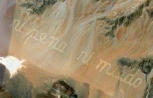 <p><strong>Image 5.4</strong> <em>- si pena ni meed</em> [no shame nor fear] - Raúl Zurita</p>