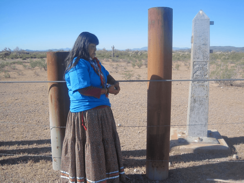 <p>Ofelia Rivas is a Tohono O'odham elder who fought against the US government erecting a fence that cut her nation in half. </p><p>Credit: Catherine D'Iganzio</p><p>Source: Catherine D'Ignazio</p>