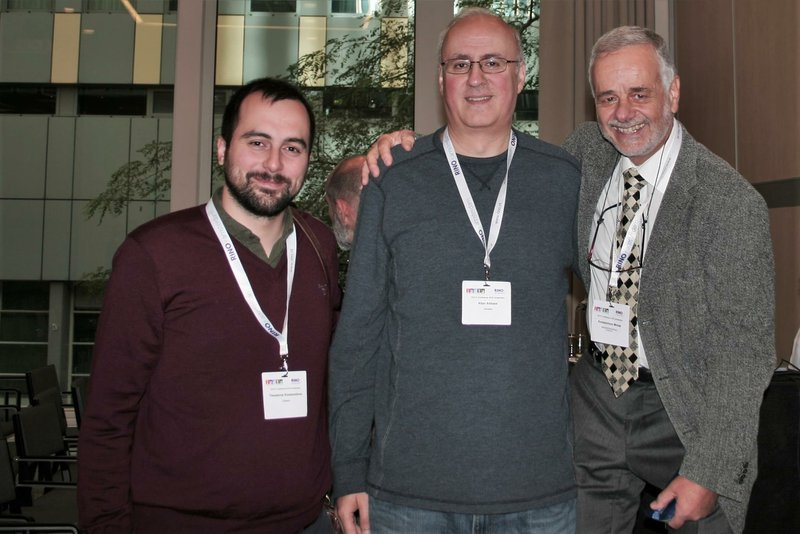 <p>Theodoros Koutsomitros, Allan Abbas and Kostas Monas at the IEDTA Conference</p>