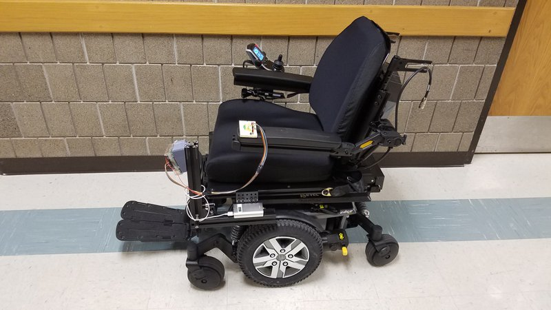 Fig. 12 The final design attached to the wheelchair.