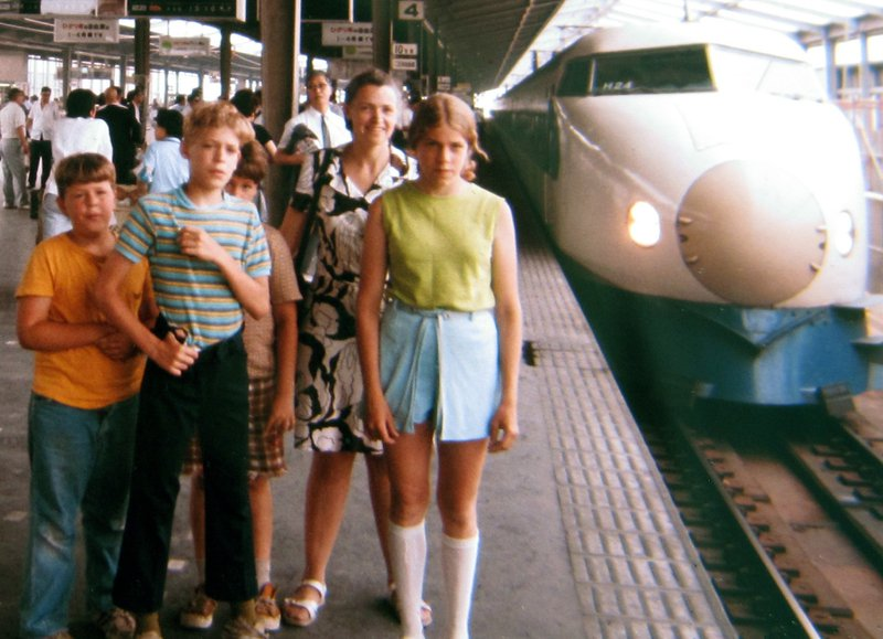 Millie and her family in Japan, 1973. Photo courtesy of Dresselhaus Family