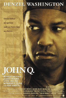 <p>Figure 8.5 <em>John Q.</em> is the story of a father whose health insurance will not cover the desperately needed transplant procedure his son needs to survive.</p>