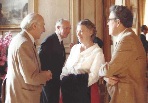 Millie and Gene at a meeting of the executive board of APS, 1984.  Photo courtesy of the Dresselhaus Family