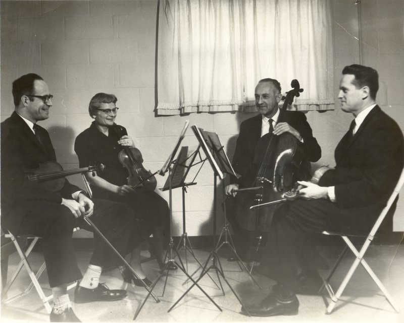 Grandpa Irv plays in a quartet. Photo credit: Spiewak Family.