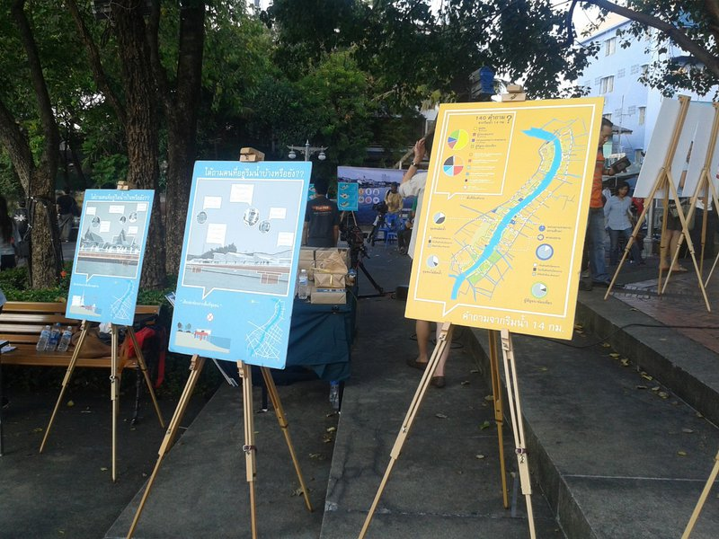 <p><br></p><p>Image 5: Exhibition of student designs in a public park by the river. Source: Author's image, November 2015.</p>