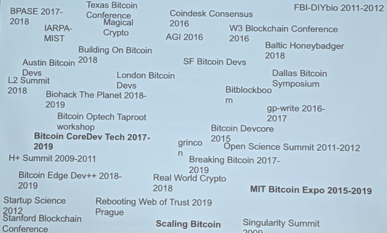 <p>Some of the conferences transcribed + on the wiki</p>