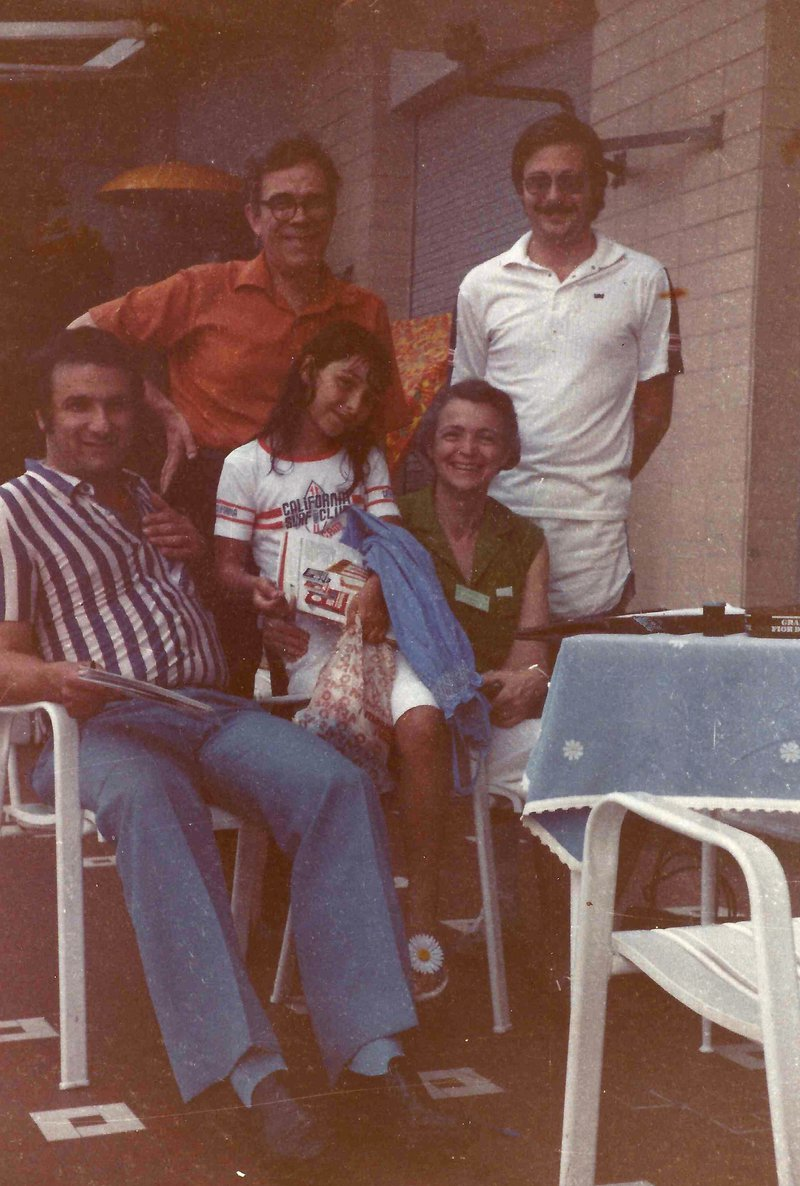 A meeting with Millie, Gene, and Peter Eklund in Trieste, 1981