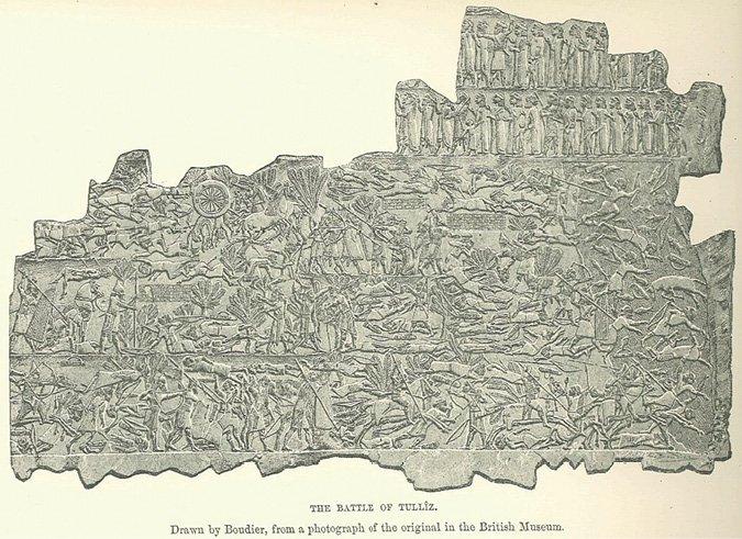 <p>Figure 3.5</p><p><em>The Battle of Tullîz</em>. Assyrian. Drawn by Boudier after original in British Museum (Maspero 2005).</p>