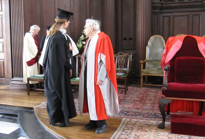 Millie receives a Doctor of Science Honoris Causa from Cambridge University.  Photo credit: Marianne Dresselhaus-Cooper