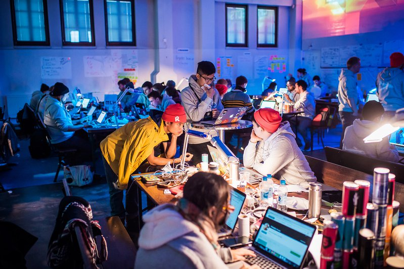 <p>Junction is the largest hackathon in Europe with up to 1500 participants working over 48 hours at the annual competition. Corporate sponsorships include UBER and other major companies. Under Creative Commons.</p>