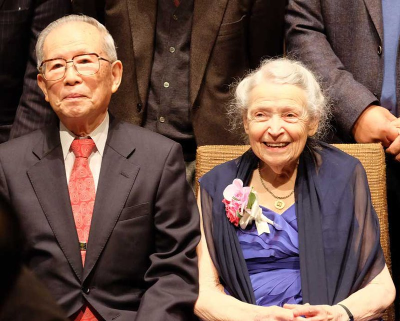 Millie and Hiroshi Kamimura at Tohoku, 2016. Photo courtesy of R. Saito