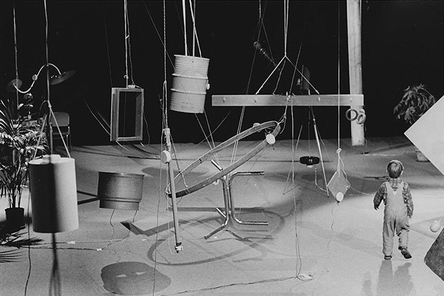 <p>David Tudor. Rainforest IV. 1973. Performed at L'espace Pierre Cardin, Paris, France, 1976. Photo © 1976 Ralph Jones</p>