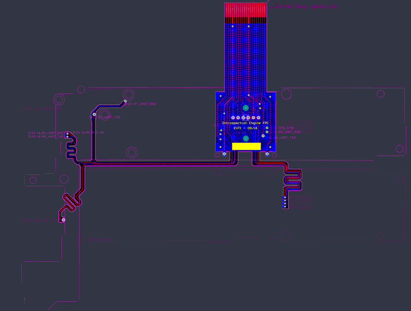 Figure 13. Final layout of the tap board FPC in Altium Designer[20].