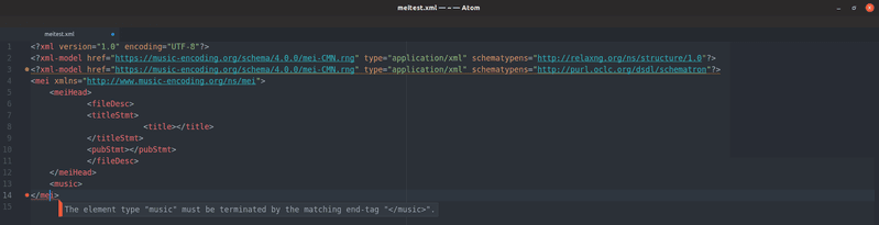 <p>Screenshot of checking error messages in Atom</p>