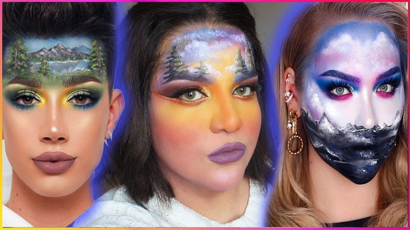 "<p>Influencers following a ""Bob Ross Challenge"" where they recreated oil paintings in makeup on their faces. Including Nikkie de Jager, James Charles, and Yosura Mukhtar.</p>"