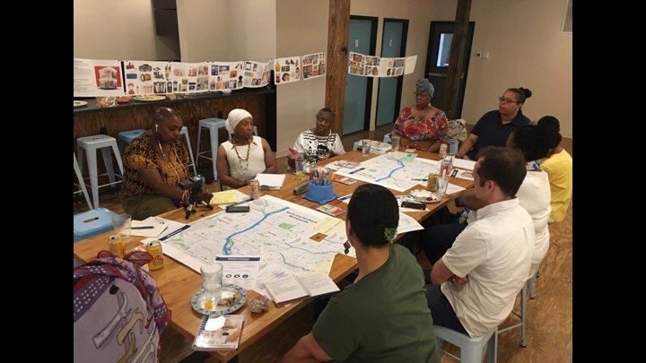 """<p class="""""""">Amoke Kubat leading community conversations about water.</p>"""