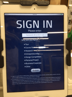 "<p class=""""><em>Fig. 3. iPad Sign-in App</em></p>"