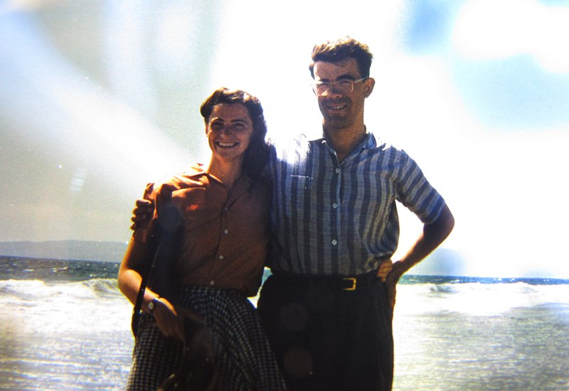 Millie and Gene as newlyweds, in California. Photo credit: Dresselhaus family.