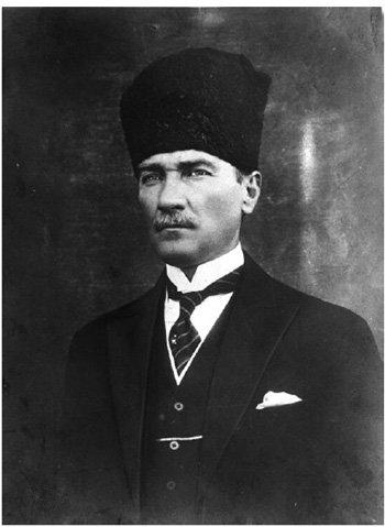 <p><strong>Fig. 3.12</strong><br>Mustafa Kemal Atatürk (1881-1938), the creator of a strong secular Turkish state. Photo courtesy of Basin-Yayin ve Enformasyon Genel Müdürlüğü (General Directorate of Press and Information), Ankara.</p>