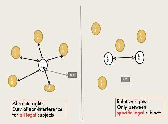 <p>Figure 1 Absolute and relative rights</p>