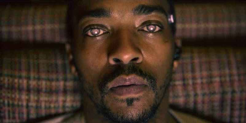 <p>Anthony Mackie's character, Danny, linked his consciousness to his game's character.</p>
