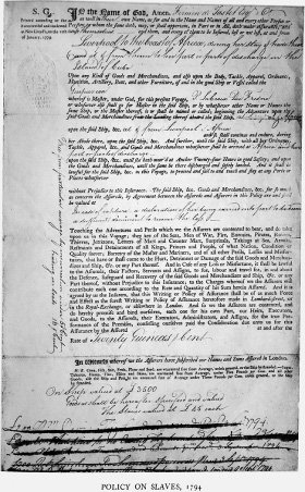 <p>Figure 3.4 A photographic reproduction of the oldest extant original preprinted S.G. policy form from Lloyd's of London. Other, older instances of this standard form are attested to in scholarship. Image from Wright and Fayle, <em>A History of Lloyd's</em>.</p>