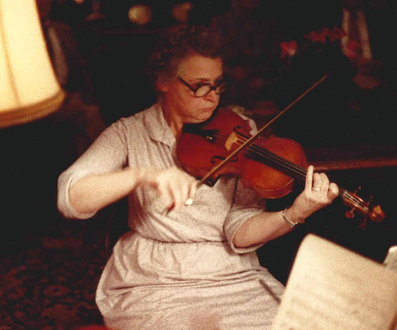Millie plays chamber music.  Photo credit: Gene Dresselhaus
