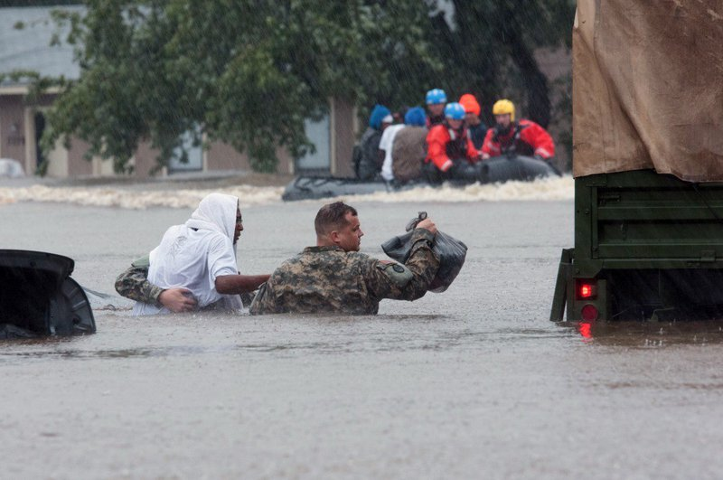 "<p>Members of the National Guard assist with evacuation in North Carolina following heavy rains caused by Hurricane Matthew. Effective communication offers a better way to get people thinking climate change. (Photo courtesy of the&nbsp;<a href=""https://www.flickr.com/photos/41284017@N08/29606844864"" target=""_blank"">United States Department of Agriculture</a>)</p>"