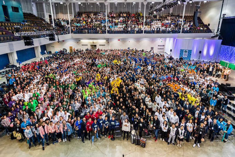 Participants at the 2017 iGEM jamboree, Boston, US. Credit: iGEM HQ.