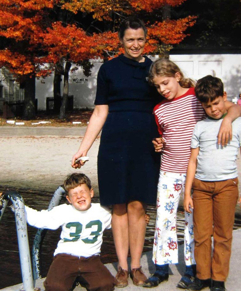 Millie and her kids in 1970. Photo courtesy of the Dresselhaus Family